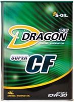 Масло моторное полусинтетическое Dragon Super Diesel CF 10W-30, 4л