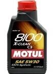Масло моторное синтетическое 8100 X-clean 5W-30, 1л