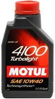 Масло моторное полусинтетическое 4100 TURBOLIGHT 10W-40, 1л