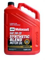 Масло моторное полусинтетическое Premium Synthetic Blend Motor Oil 5W-20, 5л
