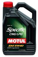 Масло моторное синтетическое Specific CNG/LPG 5W-40, 5л
